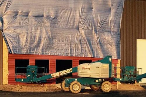 New building facade.