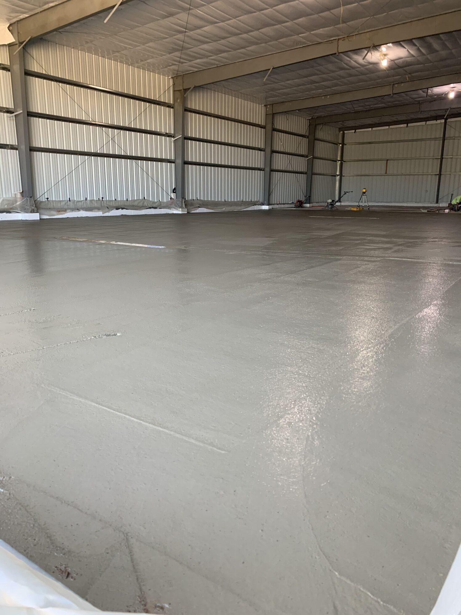 Concrete floor poured